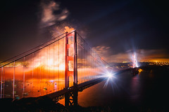 American Bridge (Thomas Hawk) Tags: 75thbirthdaygoldengatebridge america batteryspencer california goldengatebridge marin marinheadlands sanfrancisco usa unitedstates unitedstatesofamerica bridge fireworks millvalley us fav10 fav25 fav50 fav100
