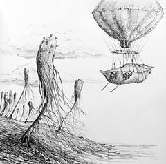 Medusa Trees (Marcos Telias) Tags: illustration drawing dibujo ilustración sketch boceto bosquejo arte artista artist ballpoint bolígrafo pen lápiz fantasy