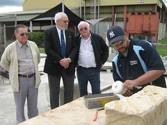 Freemasons visit stonemasons at Eagle Farm (st0nemas0nry) Tags: australia freemasonry speculative operative stonemasonry skillstech glmmmq