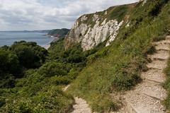 Steps to Underhook, Branscombe (Alastair Cummins) Tags: beach water coast chalk nikon view walk steps cliffs devon 1855mm jurassic branscombe d40 underhook