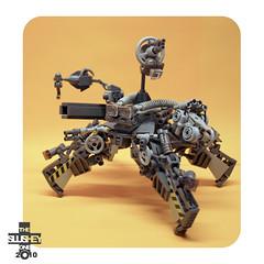 sentry destoyer (The Slushey One) Tags: one big lego body brother slush electro bro slushy turret droid sentry slushee binoculors greebles destoyer slushey
