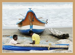 Tranquebar fishing boat (Indianature so) Tags: india beach temple fort tranquility tamilnadu nagapattinam bayofbengal tranquebar karaikal tharangambadi indianature trankebar danishcolony snonymous tharagambadi taragambadi