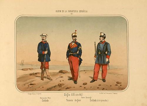 017- Álbum de la Infantería Española..-1861- conde de Clonard