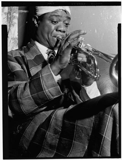 [Portrait of Louis Armstrong, Aquarium, New York, N.Y., ca. July 1946] (LOC)