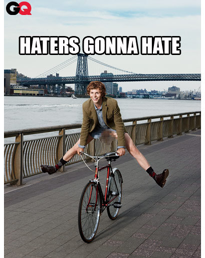 Haters to the left! Tim Lampe made this image macro for me after I