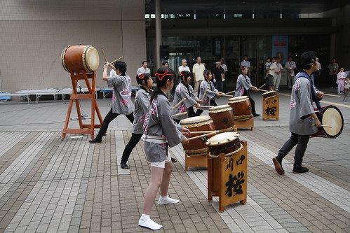 taiko performance at Skip City