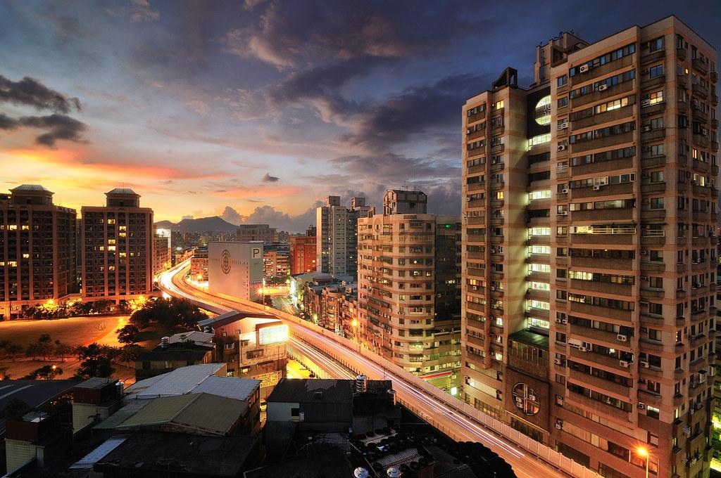 三重 中山高架橋 黃昏 夜景 車流
