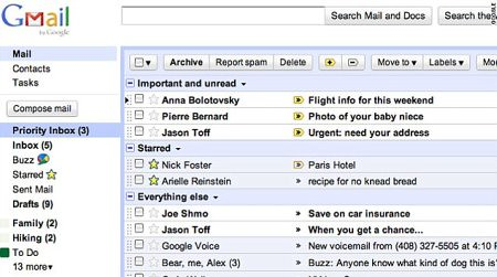 Gmail priority