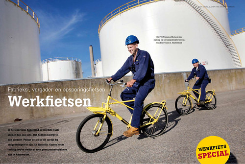 "Workcycles Fr8 workbikes in ""Vogelvrije fietser"" magazine"