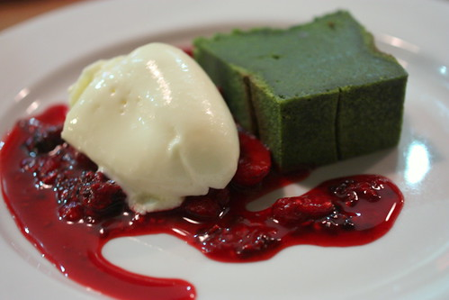 Matcha Green Tea Almond Cake