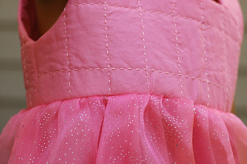Dress with Quilted Bodice - Carefree Clothes for Girls