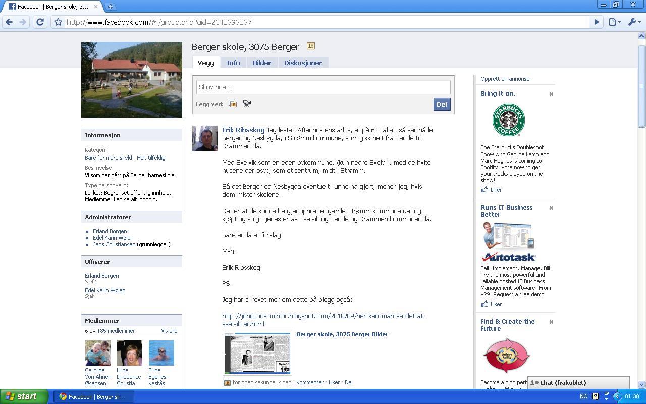 mer på berger skole facebook side