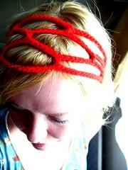 Crocheted headband (Bohemian Hooks) Tags: net hair handmade lace accessories knitted crocheted headband