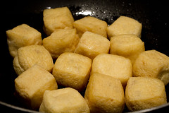frying stuffed fried tofu