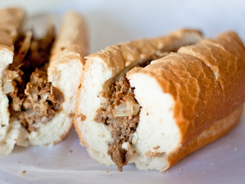 George's plain cheesesteak