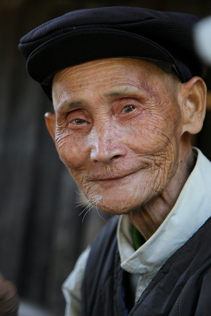 Old man in Chengyang, Guangxi, China