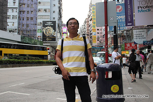 Our videographer, Ming Choy taking his smoke break