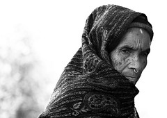 Mystic -B&W version (Matteo Allegro) Tags: travel nepal portrait people bw woman asia traditional religion culture east himalaya hindu pokhara far mystic himal newari blackwhitephotos lpwisdom