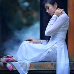 White - Ao dai Vietnam  - [Explored] (TA.D) Tags: lighting travel pink flowers light summer portrait people woman white tree green art nature girl beautiful beauty nikon asia dress lotus bokeh vietnam explore viet dai tad ao lovely frontpage saigon hochiminhcity nam aodai o di explored vit chandung d700 aodaivietnam odivitnam absolutegoldenmasterpiece bestportraitsaoi elitegalleryaoi stunningphotogpin photodaygpin best4gpin bestphoto4gpinaug2011