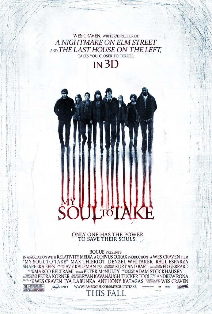 Wes Craven My Soul to Take movie poster 2010 horror film in 3-D