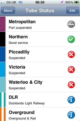 Tube strike Tuesday morning
