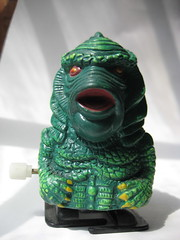 Creature Black Lagoon Gillman Wind Up 4093 (Brechtbug) Tags: from new york city nyc shadow wild portrait fish black green dusty halloween its up monster walking toy toys scary wind action vampire lagoon plastic frankenstein figure horror terror monsters universal alive creatures creature fright 2010 gillman