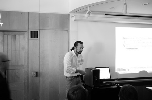 Chris Taylor presenting
