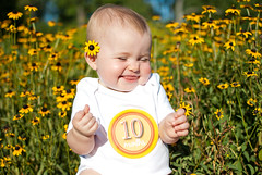 Elle (Ty Johnson Photography) Tags: park flowers portrait baby flower cute girl field 35mm children virginia kid nikon funny child joy richmond laugh giggle f18 maymont nikond90 d3000 mayont