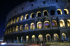 Roma ( plagojohn ) Tags: street blue light roma station night canon shot metro colosseum iso tamron 800 f28 400d