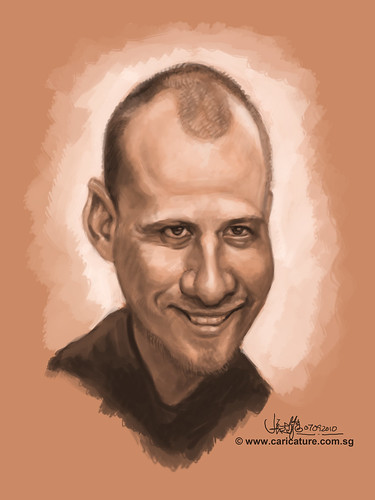 digital caricature of Jasper Andries