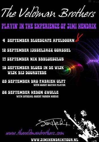 Veldman Brothers Poster Jimi Hendrix tour 2010