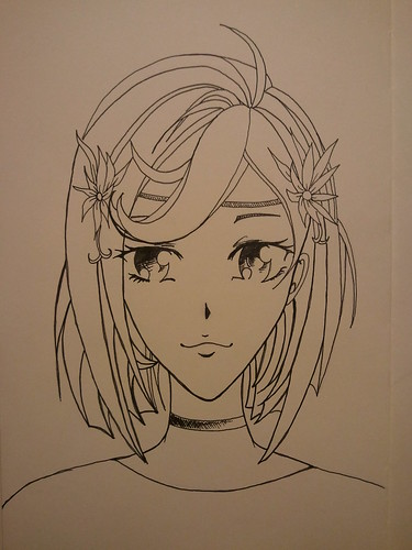 Anime Girl - Step 7 - Ink