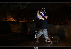 Light Fighting !! (Romain Gac) Tags: lightpainting france night canon brittany bretagne nuit lumires bzh dinan rga 500d speedlite strtocaster strobist laightpainting poulout lightfighting 430exii tripoded bzhlightpainting
