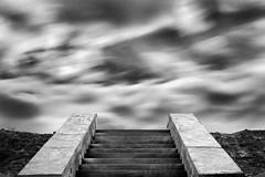 levee (nicola tramarin) Tags: longexposure sky clouds stairs italia nuvole monochromatic cielo po scala bianconero biancoenero levee veneto rovigo argine monocromatico lungaesposizione polesine nicolatramarin guardaveneta