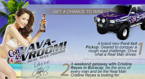 Win Boracay Getaway with Cristine Reyes and a Ford 4x4 Pickup from Colt 45 - Freebies, Promos, Giveaways for Pinoys - PinayReviewer.com
