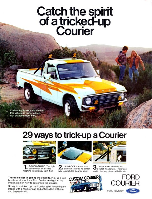 ford ad custom courier 1976