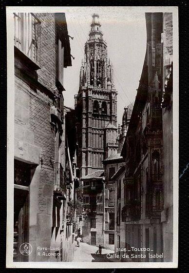 Calle de Santa Isabel a principios del siglo XX. Foto Alonso