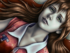 I Order You Not to Die! (hinxlinx) Tags: adobe anime art bleeding blood character death die digital dying face fate female girl love order painting portfolio portrait tear