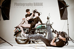 Triumph motor cycles (BABAK photography) Tags: bike vintage hair photography photographer photoshoot makeup motorcycle makeover babak 1970 awards bandana behindthescenes styling onset fashionphotoshoot babakca hairdresserjournal photographerworking behindthescenesbabak behindthescenesnahashoot