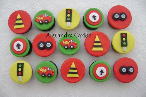 Cupcakes de carros - cars cupcakes