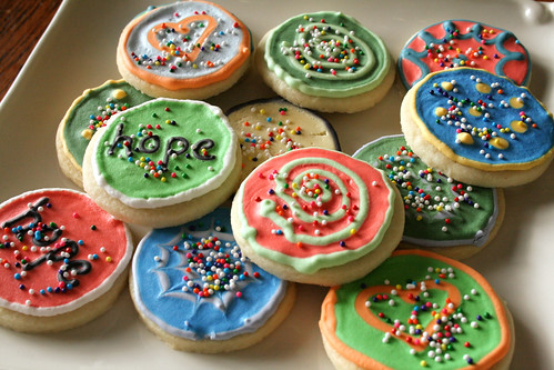 Bite-Sized Cookies with sprinkles.