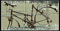 No wheels (frode skjold) Tags: bike bicycle oslo norway norge ride wheels frame sykkel alexanderkiellandsplass ramme canoneos450d sykkelkjede photoshopelements8 nikoncoolpixs3000