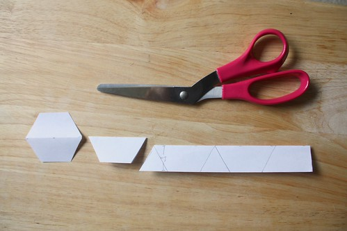 Step 4: Cut Paper Hexagons