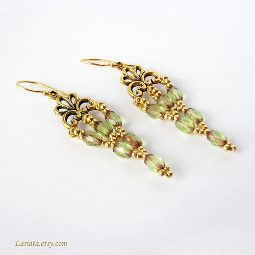 beadwoven victorian earrings