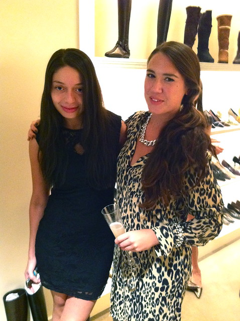 T and me at Manolo Blahnik