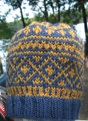 baby hat, fair isle version