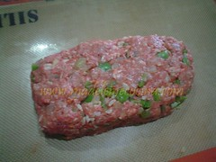Dándole forma al pastel de carne