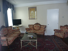 The sitting room in our sweet suite