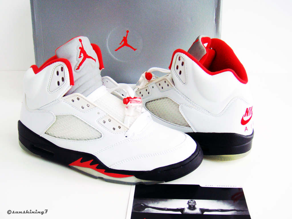 43bfb70e558 ... Sunshining7 - Nike Air Jordan V (5) - Retro 99 - White Fire Red ...