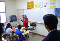 カイロ日本人学校を視察